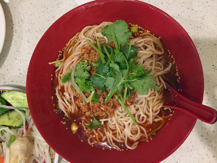 Chungking Style Hot & Spicy Noodles: Clearly the rival city's take on Chengdu's dan dan noodles. Read: spicier.