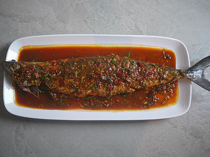 Sichuan fish in chili bean sauce (Pixian douban yu)