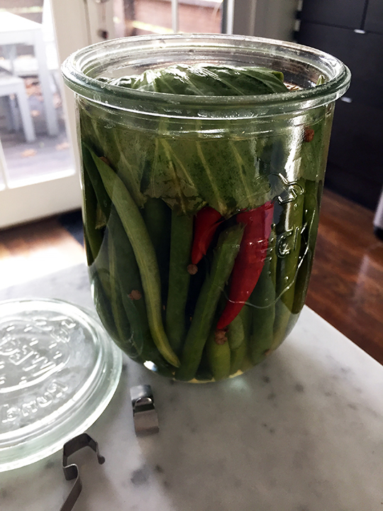 Sichuan pickled peppers and green beans