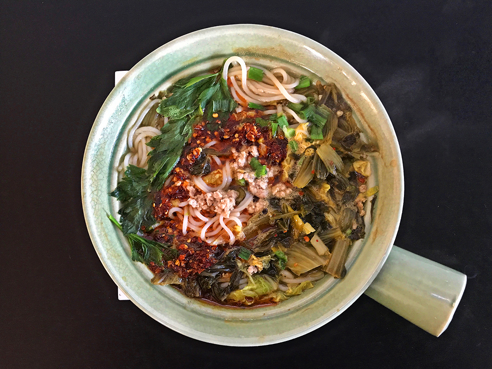 Yunnan Mixian (Rice Noodle Soup With Pork and Spicy Pickled Greens)