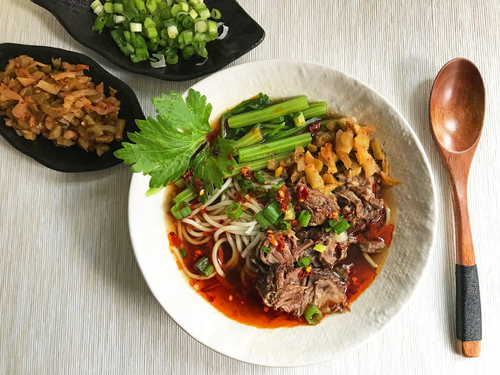 Sichuan Red Braised Beef Noodle Soup Hong Shao Niu Rou Mian Using The Instant Pot Or Not The Mala Market Inspiration Ingredients For Sichuan Cooking