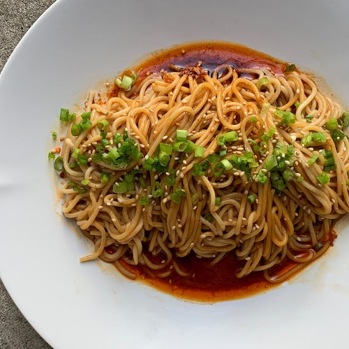 Sichuan Sesame Noodles In Strange Flavor Sauce Guai Wei Mian The Mala Market Inspiration Ingredients For Sichuan Cooking
