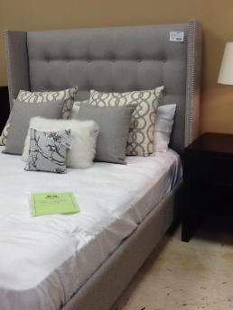 Custom Queen Bed & 6 Custom Toss Cushions $1,786.75