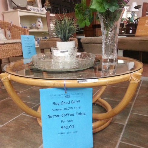 Rattan Coffee Table NOW $40.00