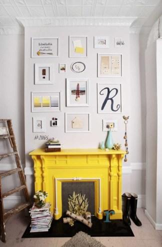Chalkboard Fireplace Source: Brooklyn Bride