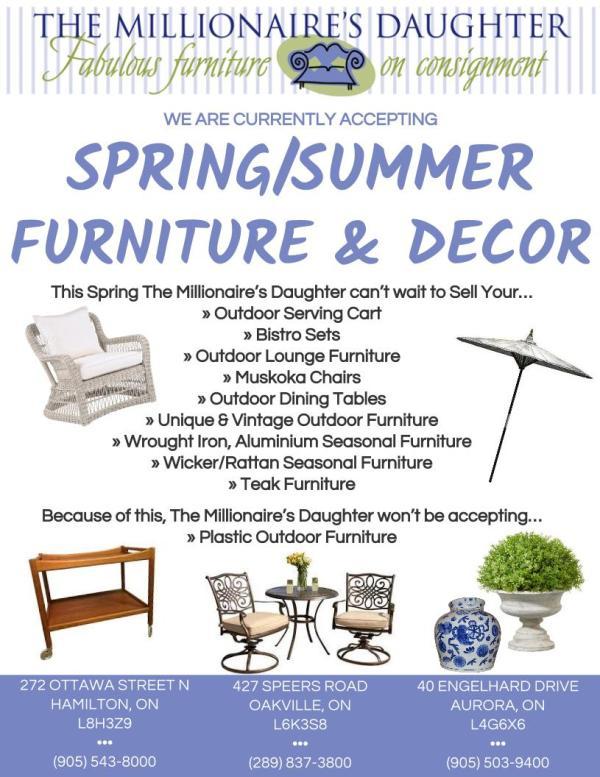 Spring-Summer Furniture