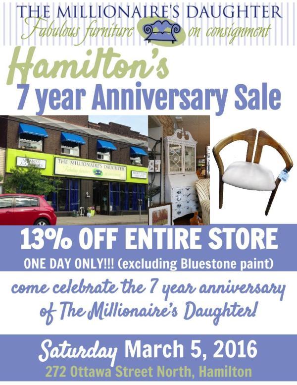 Hamilton 7 year Anniversary