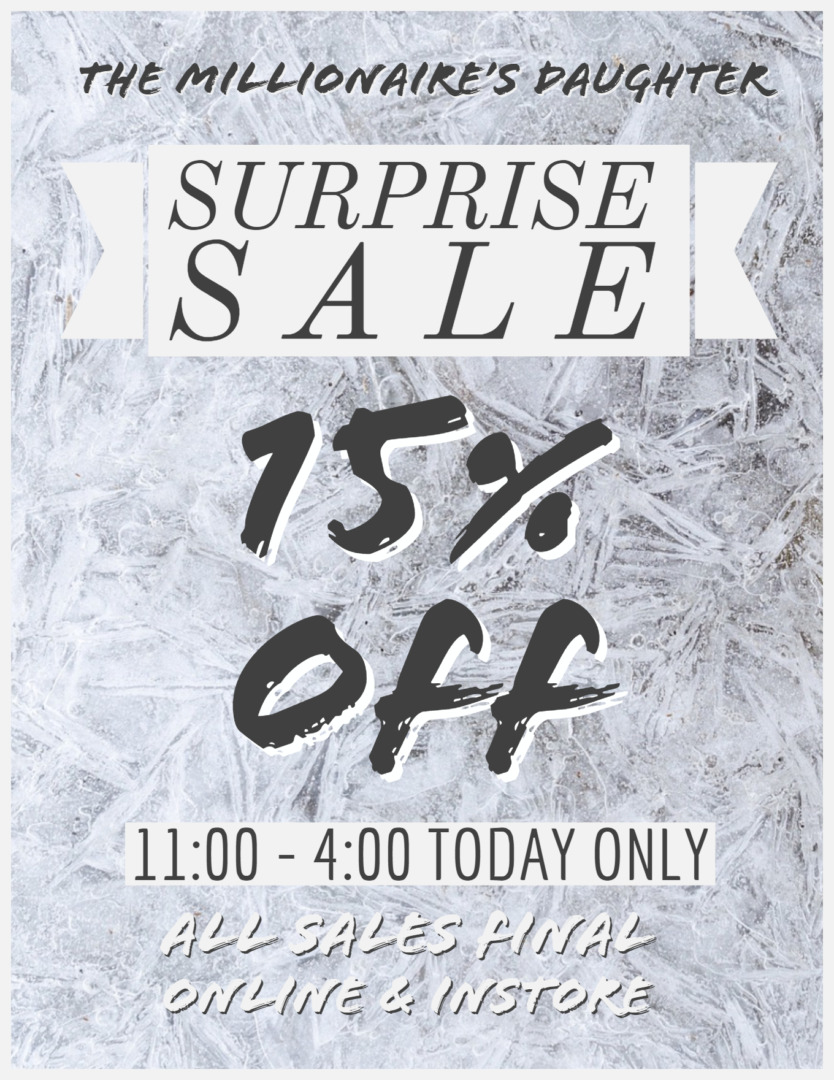 SURPRISE SALE TODAY ONLY! ❄️😱