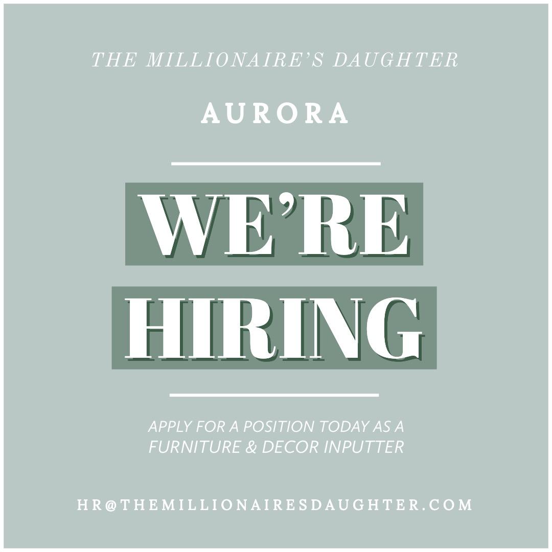 We're Hiring! PT Aurora Store