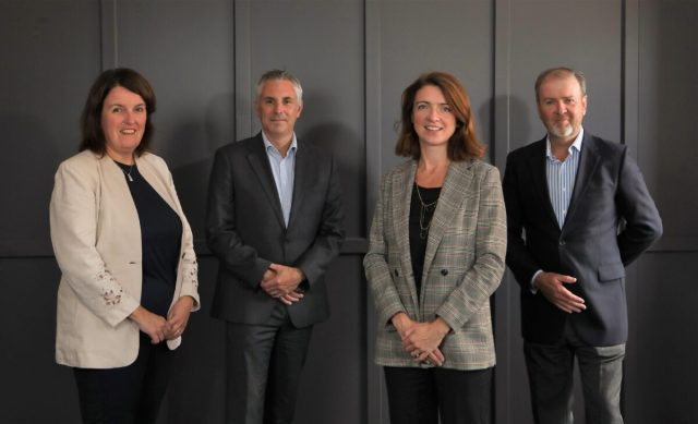 Karen Bradbury, Sector Lead for Financial and Professional Services at Invest NI; Andrew Jenkins, FinTech NI and HMT Appointed FinTech Envoy for NI; Roisin Finnegan, NI FinTech Lead at Deloitte and Alex Lee, Chairman of FinTechNI