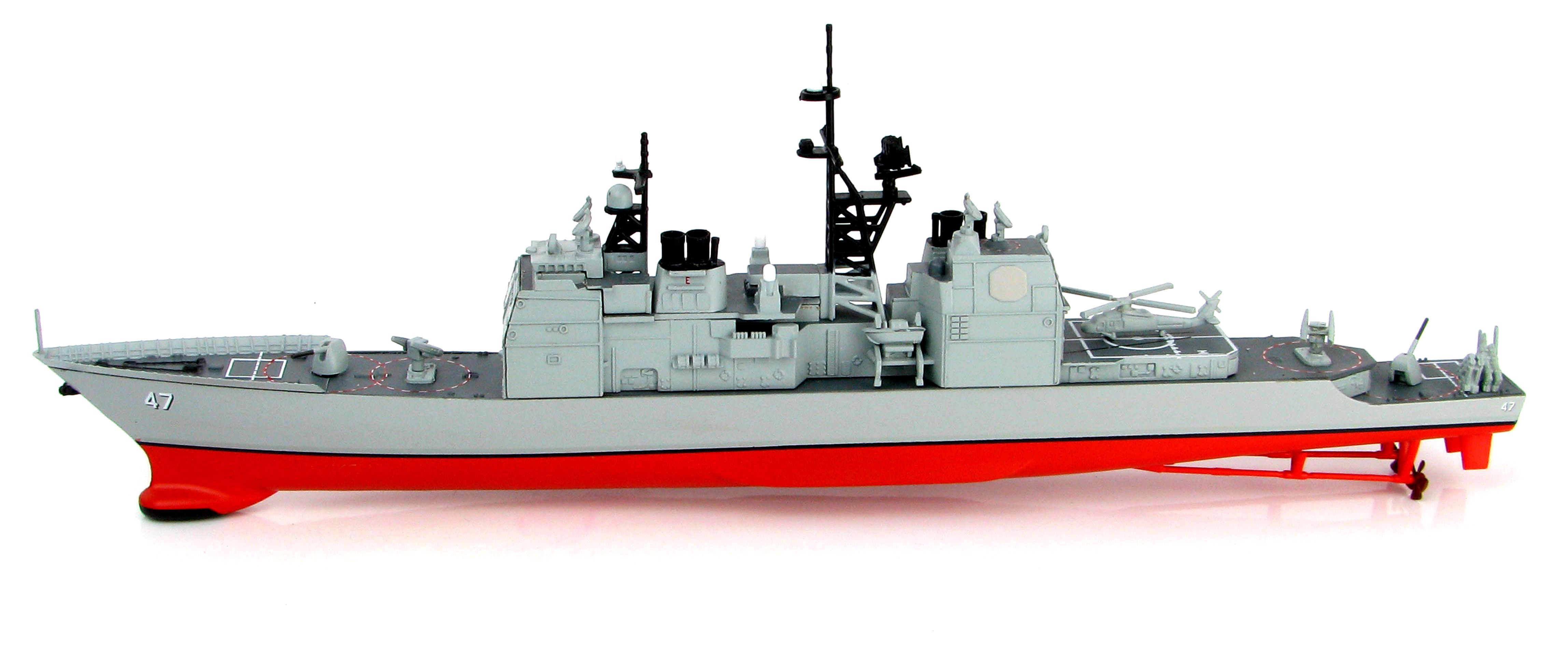 USS Ticonderoga Ticonderoga Class Guided Missile CG-47 Hobby