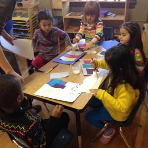 Primary art class