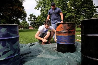 An artist at work. Photo credit: Brian Schneider, www.ebrianschneider.com