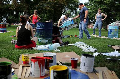 The worksite. Photo credit: Brian Schneider, www.ebrianschneider.com