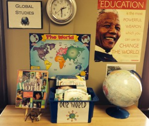 Global studies is always an important theme in Ms. DuPrau's classroom.