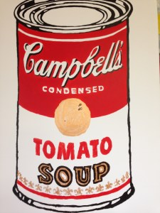 The elementary students studied Warhol's iconic style, recreated here by Mrs. Raccuglia!