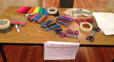 The design station beckons!