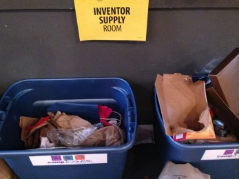 Where do all of the resources come from to create all of the amazing inventions? Recycled materials!