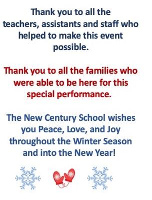 Elementary- Middle Winter Concert Program 2019