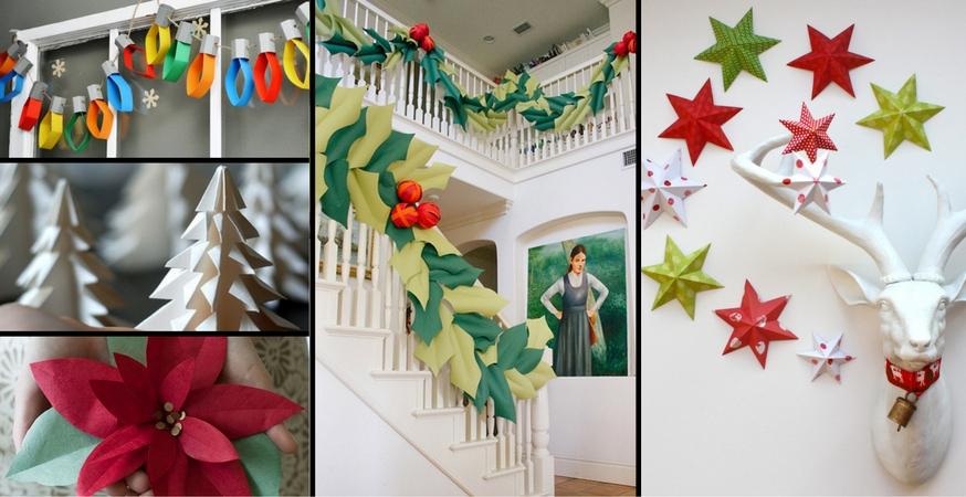 Newspaper Christmas Ornaments