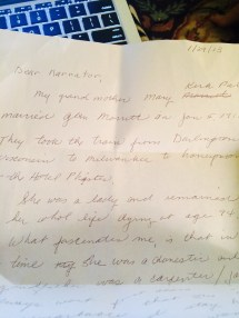 Pfister Wrote Letter