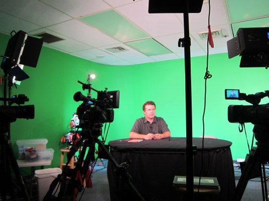 Attila doing his show on Think Tech Hawaii