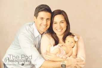 family photo with newborn baby girl
