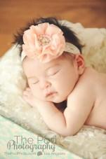 peach-newborn-hedband-sweet-sleeping-baby