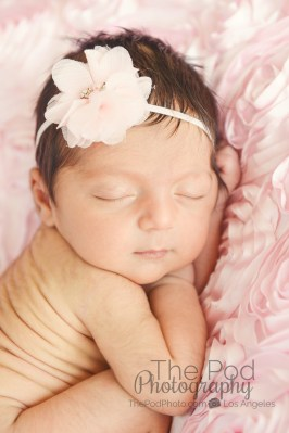 pink-girly-sleeping-infant-snta-monica-photo-studio