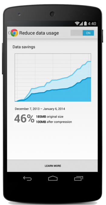 Chrome for Android 32 update now saves 50% data usage