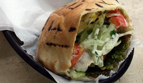 Delish falafel sandwich! Photo credit - Mamoun's Falafel