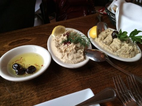 Such tasty olives, hummus, and babaganoush. Photo credit - Yelp