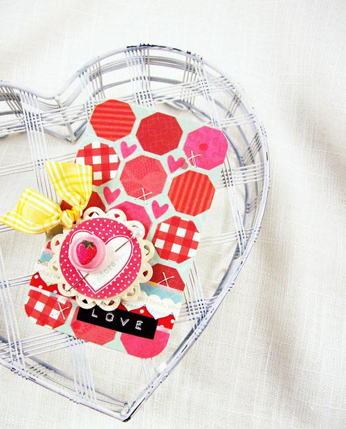 icraft andrea b heart card