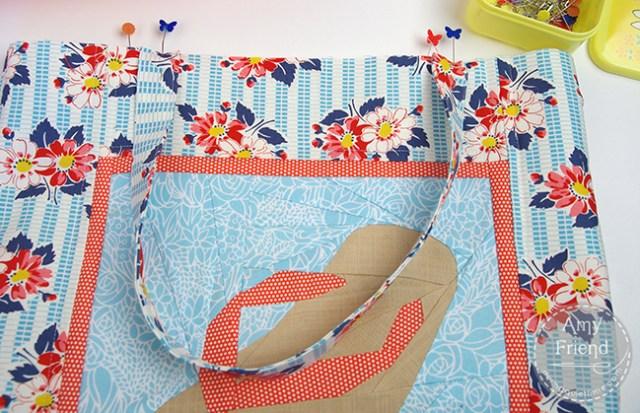 Flip Flop Beach Bag Pin Handles