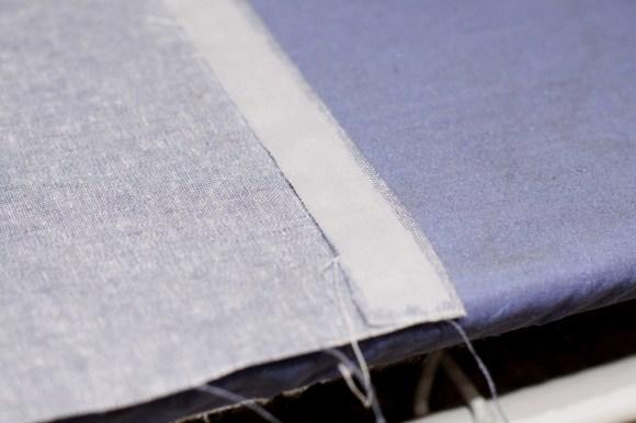 Sewbon.com for Therm O Web | How to DIY Trim and Sew an Envelope Pillow using HeatnBond Hem Tape