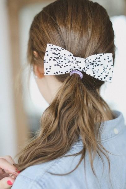 Fabric Hair Bow Sewing Tutorial by Sewbon