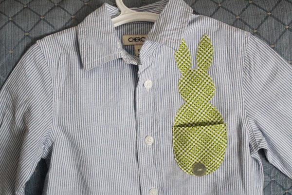 Make an Easter Bunny Pocket Shirt