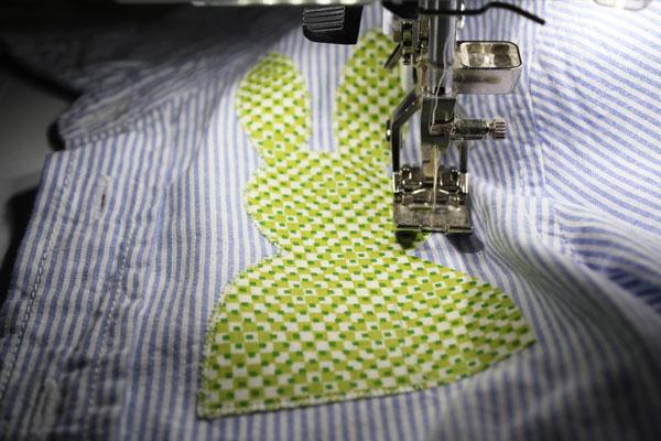stitch down bunny applique