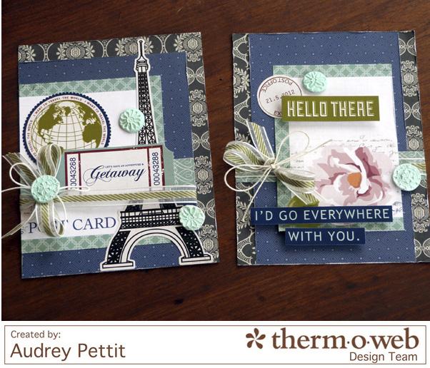 AudreyPettit Thermoweb GetawayCardSet