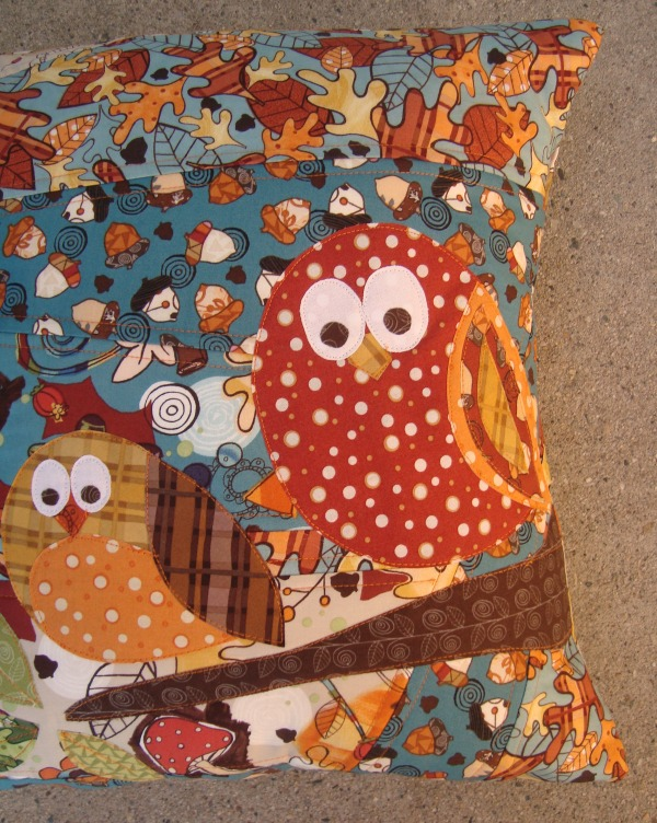 fall owl pillow tutorial