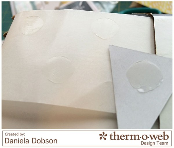 Just a note step 2 by Daniela Dobson for Therm O Web Zots large