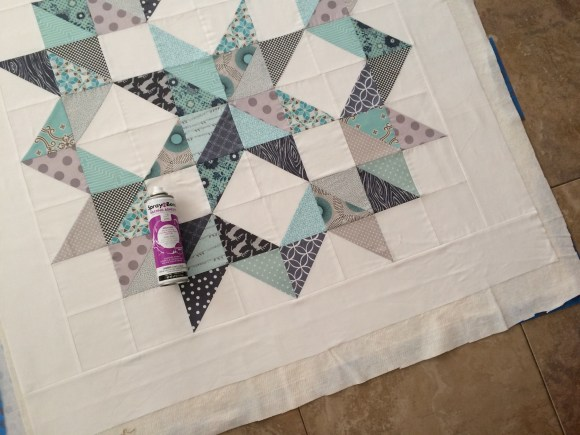 christmas half square triangle quilt 6
