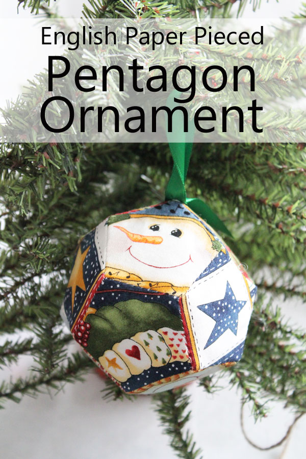 English Paper Pieced Pentagon Ornament