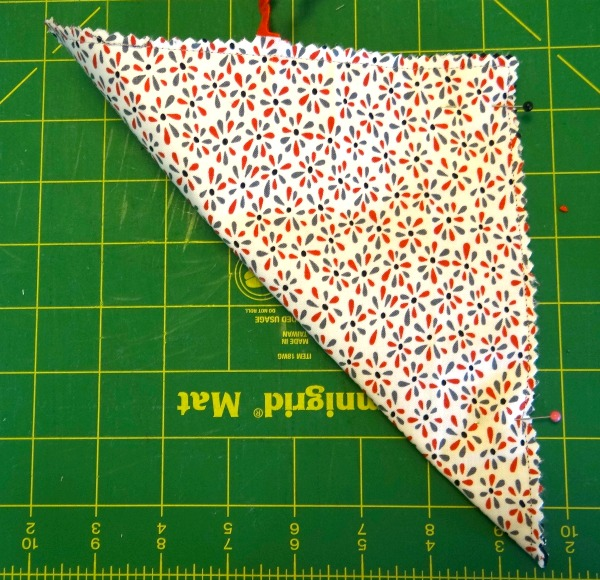 fold over and pin then sew