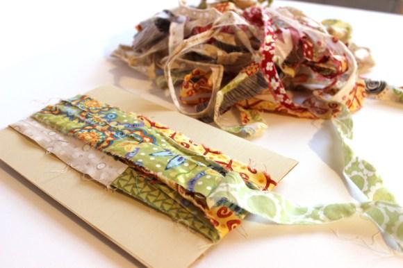 fabric scrap tassels