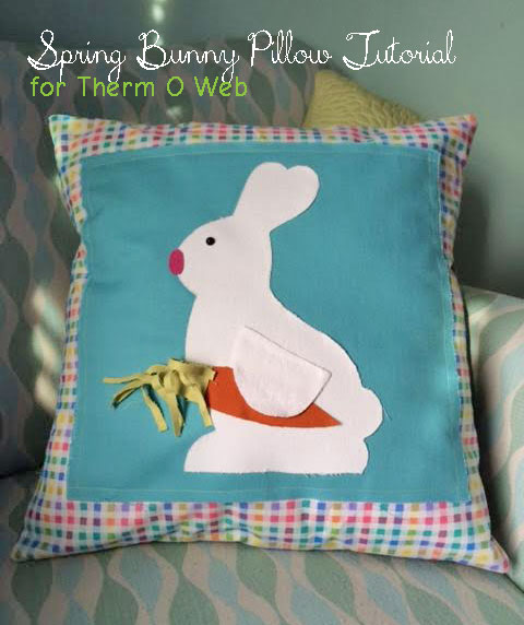 Indygo Junction Bunny Pillow Fabric Fuse HeatnBond