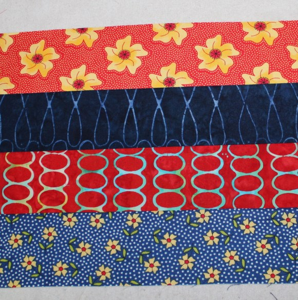 four strips sewn together