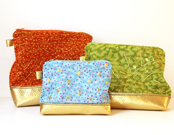 Gold pouches
