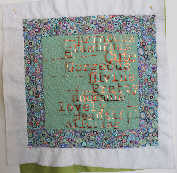 quilt the pillow front