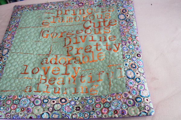 quilted pillow front